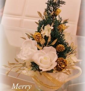 横浜 プリザーブドフラワー クリスマスツリー フルール トレシック 星野久美