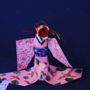 着物ドール お花の先生 プロジェクト 折り紙 メディア