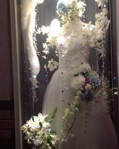 ギャラリー ディスプレイ ウエディングドレス