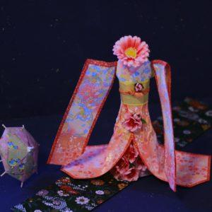 お花とダイヨの折り紙 着物ドール