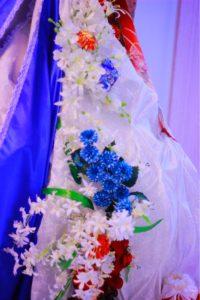 フランス大使館 日仏160周年 星野久美 フラワー展示