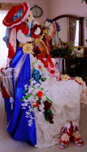 フランス大使館 花展示 星野久美 トリコロール