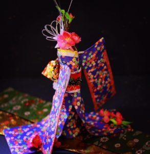 着物ドール 日本人形 折り紙