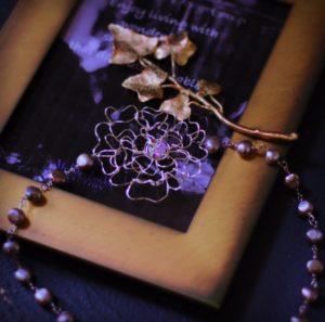 薔薇 ワイヤーワーク ネックレス