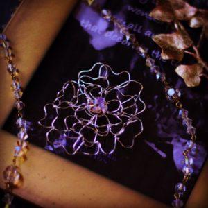 薔薇 ワイヤーワーク ブローチ ネックレス