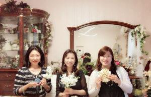 フランス大使館 花展示 フラワー装飾 星野久美