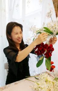 フランス大使館 花展示 星野久美
