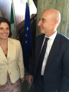 イタリア大使と大使夫人