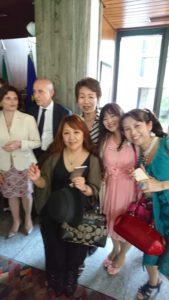 イタリア大使館にて生徒さまたちと