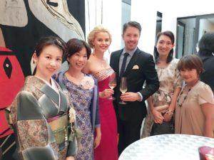 スイス大使館にて「お花で文化コミュニティ」メンバーの皆さまと