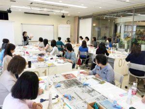 横浜ディスプレイミュージアムにて着物ドール講習会