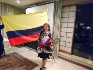 コロンビア大使館にて