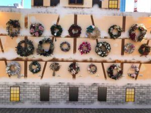 東京クリスマスマーケットにてリース出展