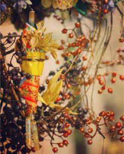 東京クリスマスマーケットにて着物ドールリウムのリース