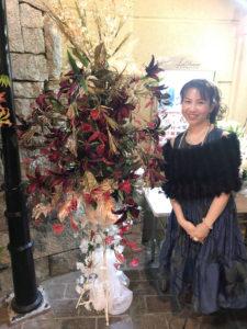 秋本奈緒美さん年末ライブ。エントランス装飾。