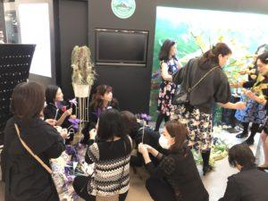 マウントレーニアホール渋谷にて装飾準備
