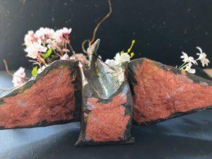 和紙と柿渋でつくる花器