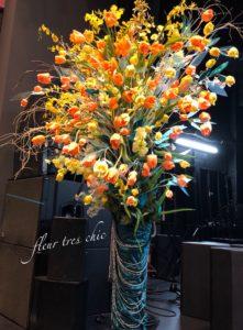 ニアホール渋谷にてフラワー装飾