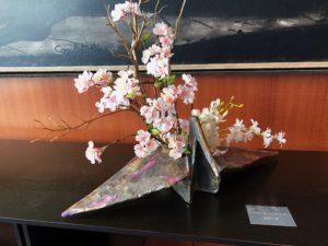 フランス大使館にて花展示