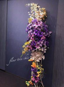 マウントレーニアホール渋谷エントランスのフラワー装飾