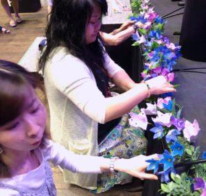 関東、関西の「お花で文化コミュニティ」の生徒さまたち