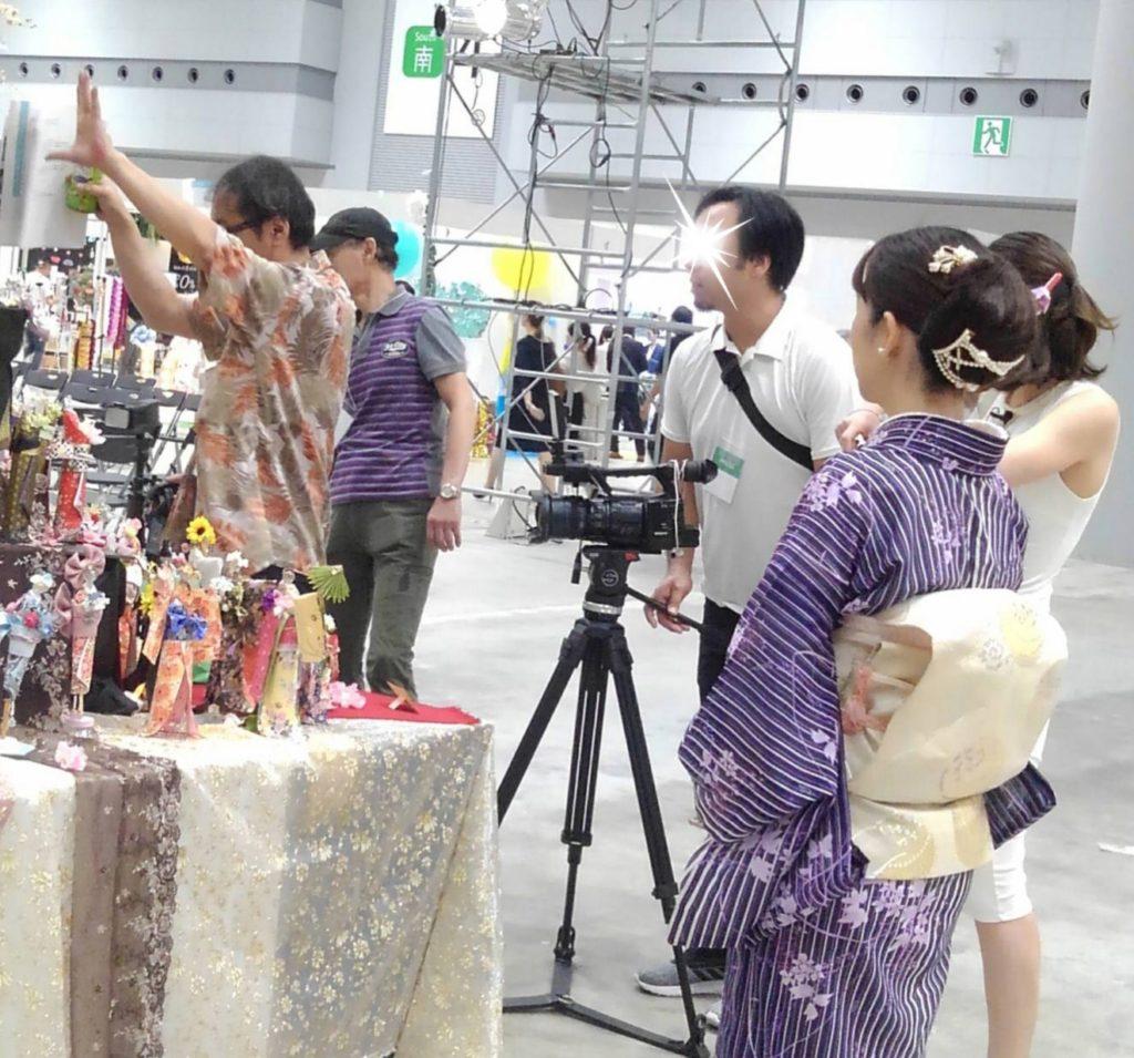 NHK国際放送テレビ取材