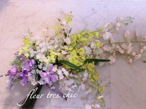 ランをメインにした花束