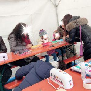 東京クリスマスマーケットでのワークショップ