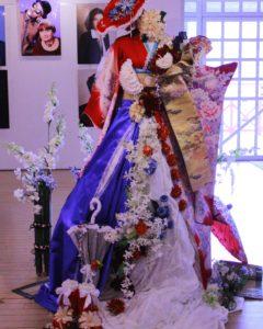赤レンガ倉庫にて日仏交流記念花展示