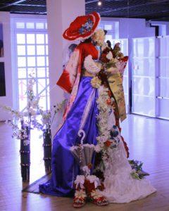赤レンガ倉庫にてお花展示
